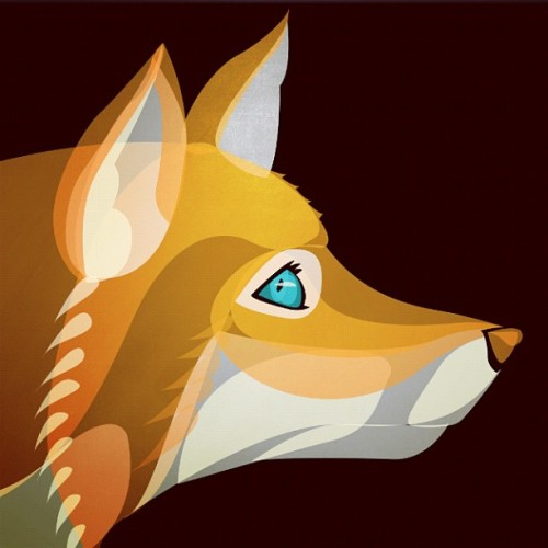 Quick vector to start the day - Fox (Taken with Instagram)