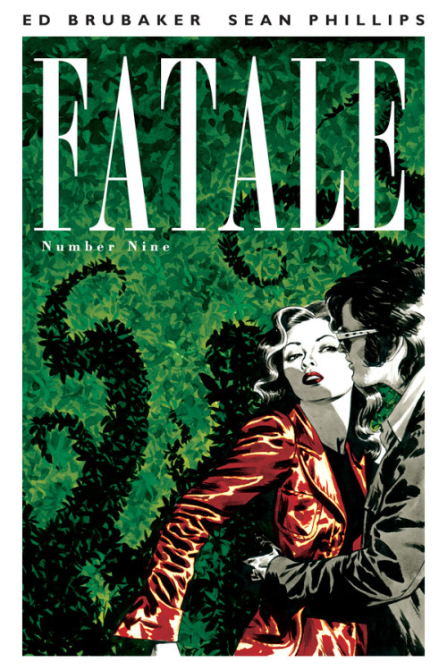 "Fatale #9 Story by:Ed Brubaker Art By:Sean Phillips & Dave Stewart Cover By:Sean Phillips FATALE's second arc ""The Devil's Business"" rushes toward its savage conclusion, as Jo comes out of hiding, ready to confront the reborn Bishop as his cultists creep around 1970s Hollywood searching for her and her new lover…And remember each issue of FATALE contains extra content, articles and artwork that are not available anywhere but the printed single issues."
