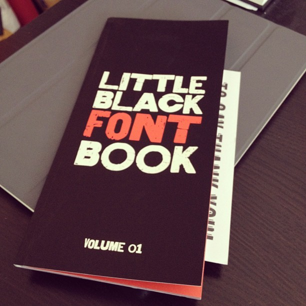 The @hypefortype Little Black Font Book has arrived (Taken with Instagram)