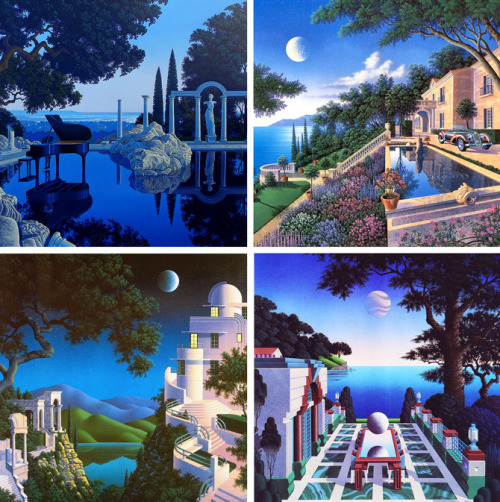 pantherclub:  Sensual moonlight paintings from American artist Jim Buckels