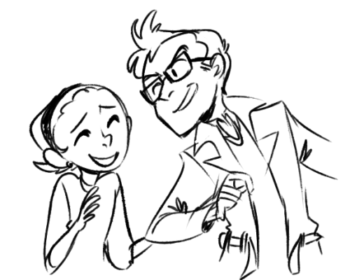 pookieandblindler:  fdjahj just missed you! but here! ;o; it's a quick doodle, but i hope you like it sorry, tennant is a little hard to draw haha i'll draw a better one soon c:
