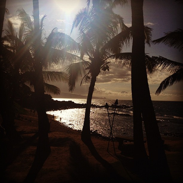 Last night on Maui. #maui #ermahmauri #hawaii  (Taken with Instagram at Mama's Fish House)
