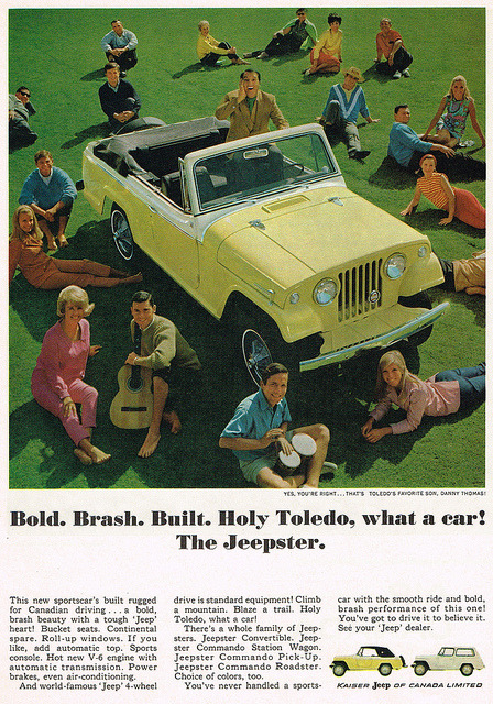 Vintage Ad #1,996: Girl I'm Just a Jeepster by jbcurio on Flickr.Girl I'm Just a Jeepster