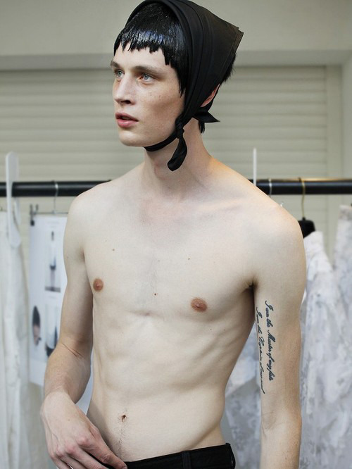 Topless Tuesday: Andrew Westermann at Tomorrow Is Another Day, backstage at JW Anderson by Hiroyuki Ishimizu
