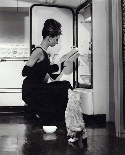 Breakfast at Tiffany's, (1961) Audrey Hepburn with Cat.