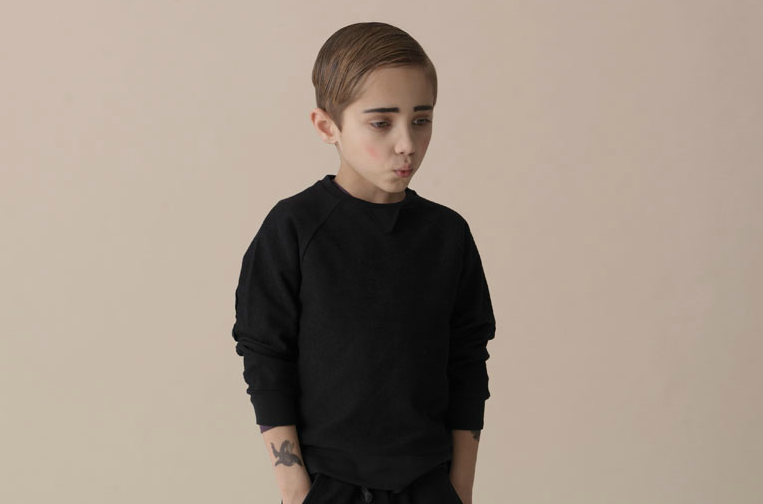 wgsn:  Cool tattooed kids with crazy eyebrows feature in the latest campaign from Danish favourites Soft Gallery.