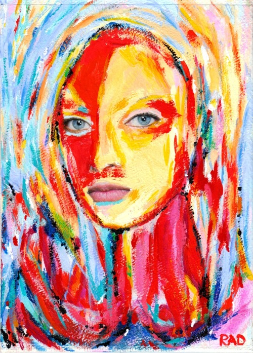 Gabriella | Mixed media (gouache) on canvas boardhttps://www.facebook.com/robindickinsonarthttp://robindickinsonart.com/category/gallery/