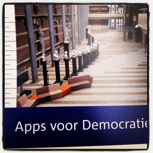 8 september - hackathon in tweede kamer - http://www.appsvoordemocratie.nl - #opendata  (Taken with Instagram)