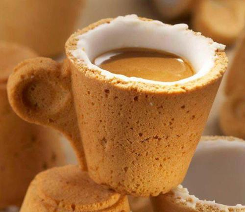 Cookie coffee cup! via Francesco Mugnai