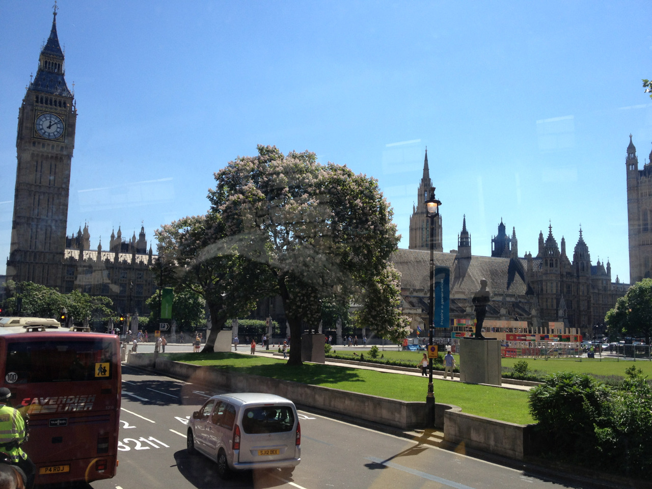 london - sunny and warm in london today, hopefully it will last all through the olympics