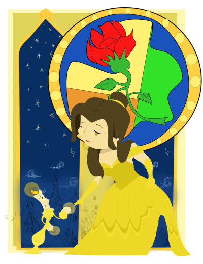 Beauty and the Beast fan art at the request of a friend. :)