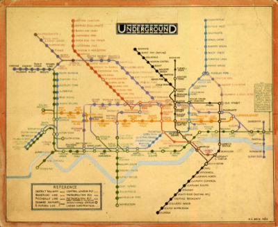 "London tube map ""The tube map is something we all take for granted and rarely consider its origins. Ever wondered who came up with the seamless (but maybe not geographically accurate) design? Well, it was a chap called Harry Beck who was hired to redesign the map in 1931. Some could compare Beck's approach to the London Underground to Steve Jobs' vision of computers: 'what do people need and how do we make it simple?' as he ditched the curved lines and natural bends and implemented a simple grid-like system making the map easier to read. His first design (above) was rejected leading him to design a map very similar to the one we now know and love. But that's just the tip of the iceberg. The London Transport Museum is hosting a season of talks and events discussing the evolution of the tube map, contemporary art, a Piccadilly Line walking tour and much more. Be sure to check out the exhibition and to book quickly so you don't miss out."" Carly-Ann Clements, Time Out"