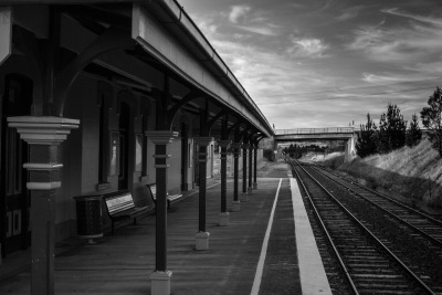 picturesinredandblue:  Uralla Train Station.