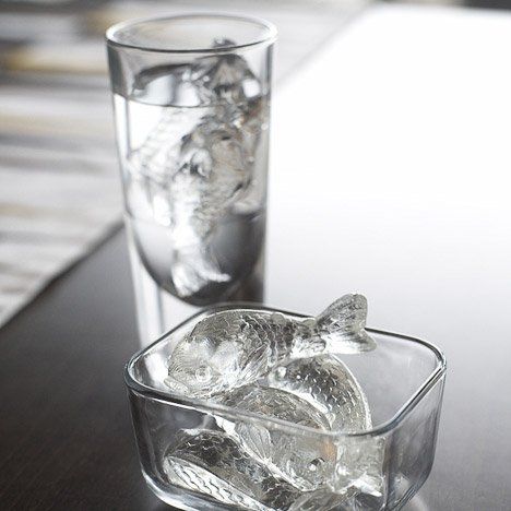 geekystuff:  Cold Fish Ice Cube Tray