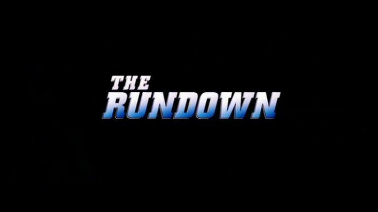 Movie: The Rundown [2003] Directed By: Peter Berg Movie Poster: The Rundown Wrestler(s) captured: The Rock (as Beck)