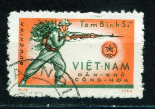"""Vietnam War Viet Cong Soldier stamp 1964"" (via)"