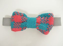 Just Blogged: All about my Gingham Bow Tie in Teal and Coral. I love this colour palette!