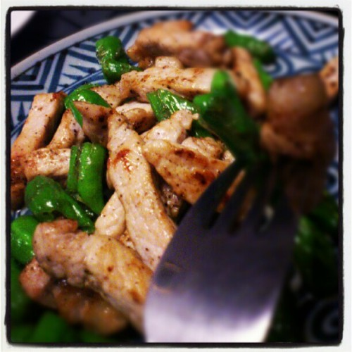 pork x green chili pepper (Instagramで撮影)