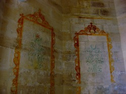 Decorative painting by prisoners in the donjon of Chateau Vincennes. Vincennes, France. Photo by Amber Maitrejean