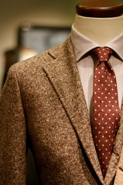 Tombolini Donegal tweed blazer.