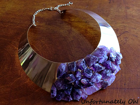 truebluemeandyou:  DIY Assad Mounser Inspired Amethyst Collar Necklace Tutorial from Unfortunately Oh! here. For a Chanel Inpsired Crystal Bracelet tutorial go here, for a Chanel Inspired Crystal Necklace go here, and for a truly spectacularDIY Spiky Crystal Ring Tutorial Inspired by Pamela Love FW11 go here.