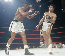 Liston V Clay I  To boxing analysts and writers, the match was too lopsided to take seriously. The champ Liston was feared by nearly every boxer and would surely dispose of the 22-year-old challenger. But Liston failed to answer the bell for the seventh round because of an injured shoulder, giving Clay the win via TKO.