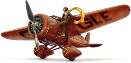 Amelia Earhart's 115th birthday  (via Google)