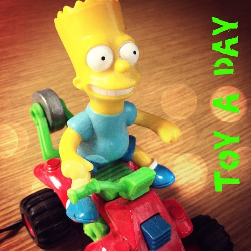 Toy a day #toy #toyaday #bartsimpson (Taken with Instagram)