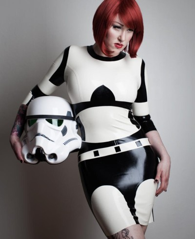 Skin Tight Stormtrooper Latex Dress