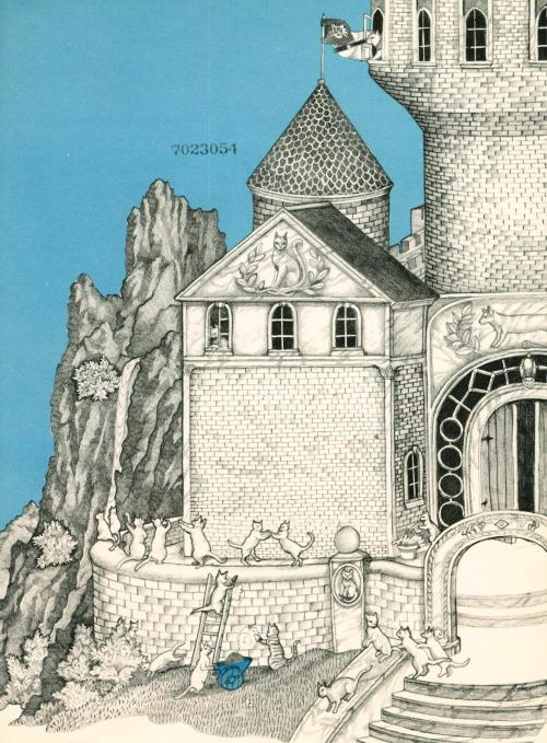 In the Castle of Cats by Betty Boegehold, illustrated by Jan Brett