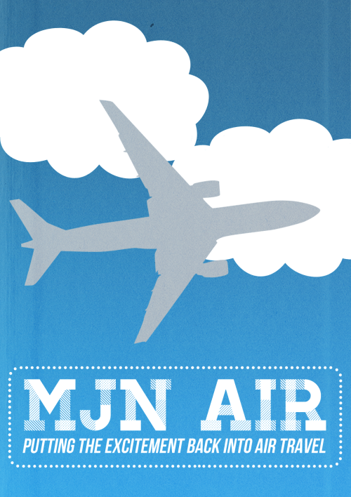 Welcome to MJN Air, putting the excitement back into air travel. Sometimes too much so.