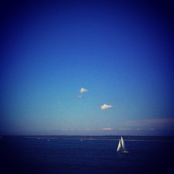 Deep thought sailboat (Taken with Instagram)