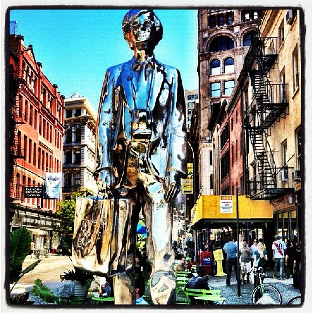 #andywarholmonument #andywarhol #unionsquare #webstagram #igers #insta #igdaily #ignation #instagood #instamood #iphonesia #iphoneonly #instagrammers #photo #photopic #photooftheday #statue #summer #city #bestoftheday #ny #nyc #newyorkcity #morning #manhattan #followme #monument #picoftheday #bestagram  (Taken with Instagram at Union Square)
