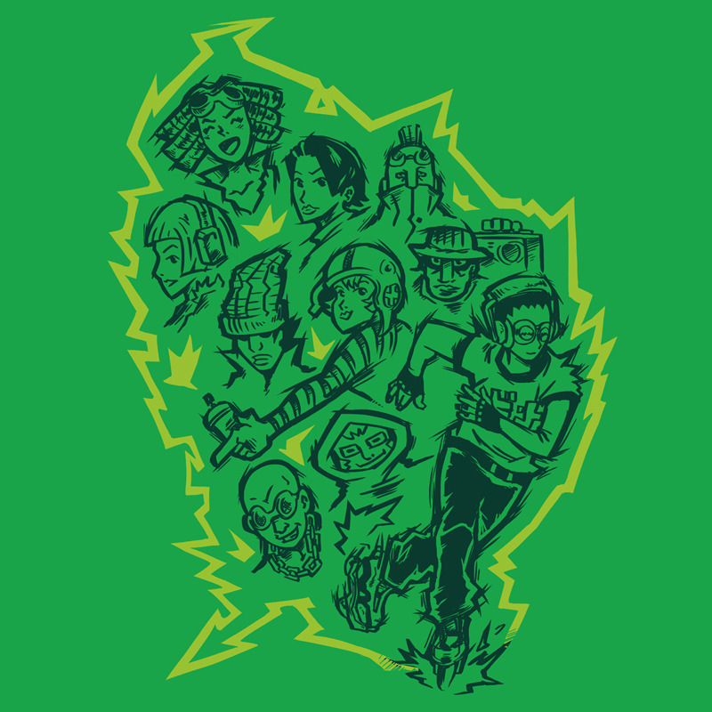 Jet Set Radio Fans it's time to put a like on the possibili-TEES on Ript Apparel because my design The GG's it's going to be printed if has a lot of likes :D Click on the image.