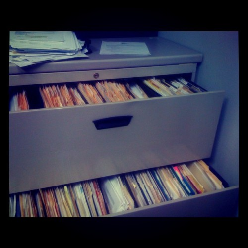 filing is SO FUN… (Taken with Instagram)