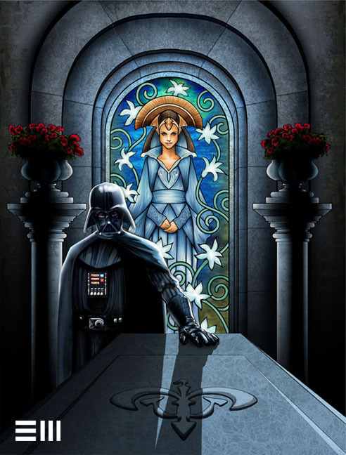 Darth Vader Visits the Tomb of Padme by ~Erik-Maell