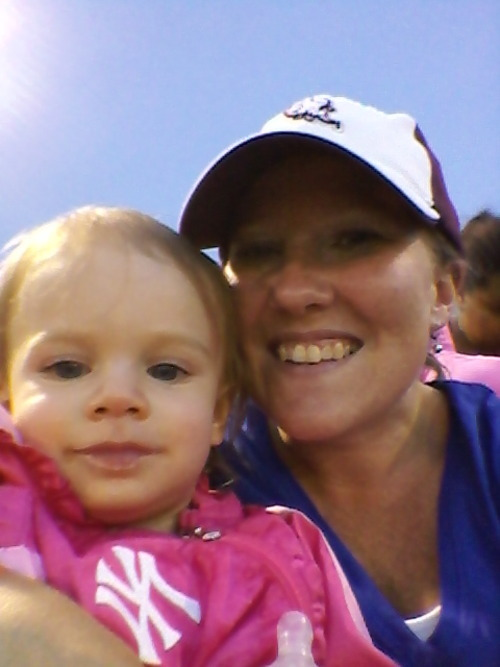 Gianna and I enjoying last night's ValleyCats game.