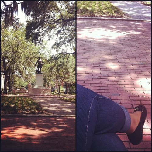 Saying goodbye to Downtown Savannah in my most frequented square #savannah #georgia #downtown   (Taken with Instagram at Chippewa Square)