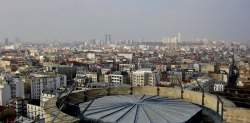 Paris as viewed from atop the donjon, the highest medieval fortified structure in Europe. Chateau Vincennes. Vincennes, France. Photo by Amber Maitrejean
