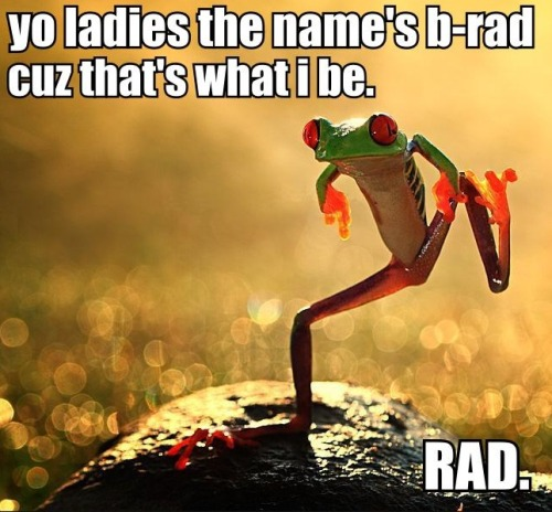 b-rad? more like b-lame.