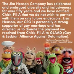 sonofbaldwin:  The Muppets are not here for bigotry.