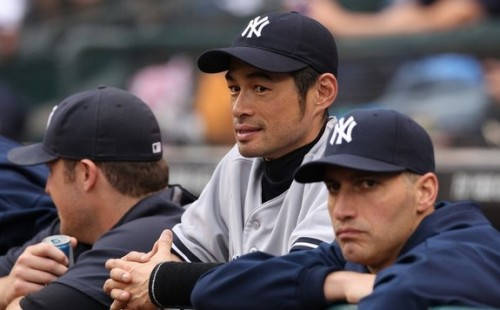 One image I will never get used to seeing. Thanks for the memories, Ichi. [My Yankees Trap]