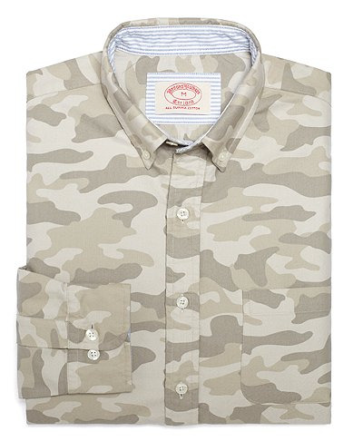 evolutionofagentleman:  Brooks Brothers fall new arrivals…Camo..  Well, shit.  That was actually kind of unexpected.  Good looks, though.  I don't know if I'd buy it, but it's cool to see Brooks Brothers in the camo game.
