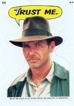 Trading card sticker - Indiana Jones and the Temple of Doom - Harrison Ford  #11 1984 by Jimmy Tyler on Flickr.