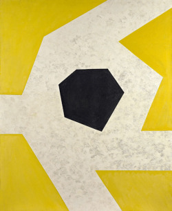 midcenturia:  Charles Green Shaw, Black on White Against Yellow, 1968. via