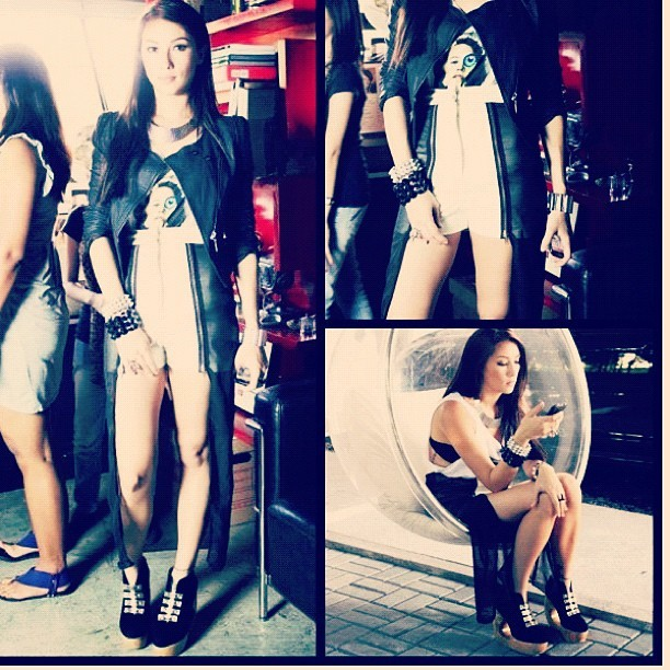 Ms. @solennheussaff wearing HEATH MULLET SHORTS and Daryl Booties! ❤❤❤ (Taken with Instagram)