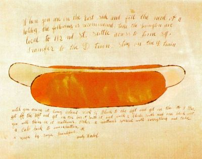 triplecanopy:  Andy Warhol, Hot Dog