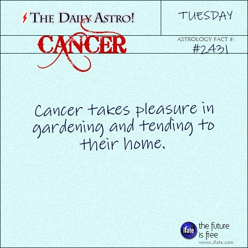 Cancer 2431: Check out The Daily Astro for facts about Cancer.and get a free online I Ching reading here