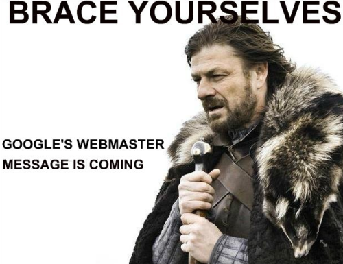 Google's Webmaster Message Is Coming… via @victorpan