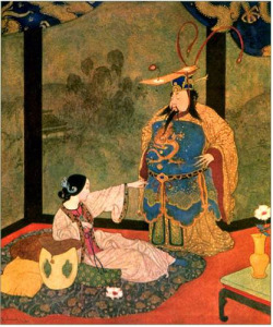 Edmund Dulac, Princess Badoura and the King of China, 1913 on Flickr.